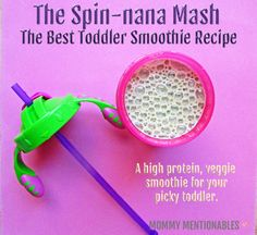 The Best Toddler Smoothie Recipe to sneak veggies into your toddlers diet. A high protein, fruit and veggie smoothie your toddler will love. #toddler #moms #pickyeater