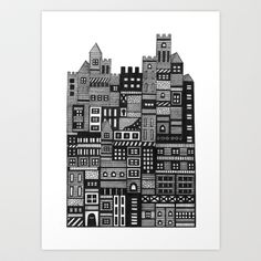 Castle Infinitus Art Print by Marcelo Romero - $17.00