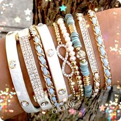 Light up your wrist with this beautiful Vanilla Sky stack from @chichime