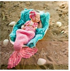Super cute baby Mermaid costume!   make baby costume   ... Baby Photography Prop Baby Animal Hat Cap Baby Crochet Knitted Set
