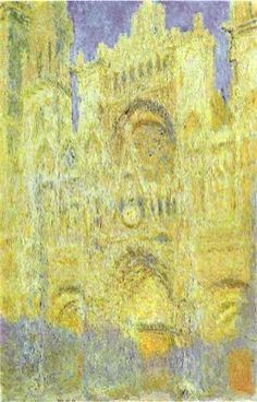 Claude Monet - The Rouen Cathedral in the Evening