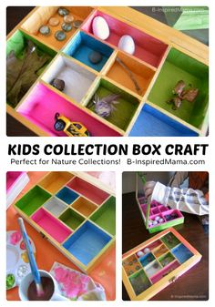 Collection Box Kids Craft - Perfect for Nature Collections - at B-Inspired Mama #kids #kidscrafts #kbn #binspiredmama