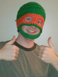 Michaelangelo Teenage Mutant Ninja Turtle Hat