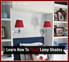 Learn how to spray paint lamp shades (and your lamps) | www.inspirationfo... #paintlamps #spraypaint