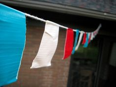 duct tape bunting.
