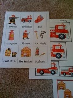 3 alarm fire printables! #preschool #kindergarten