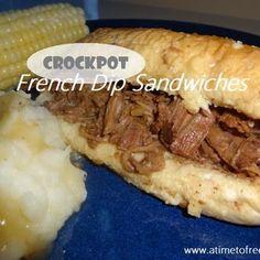 French Dips {Crockpot Recipe}