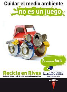 Cuidar el medio ambiente no es un juego...Recicla!