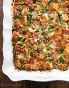 Ham and Asparagus Strata Recipe | Simply Recipes