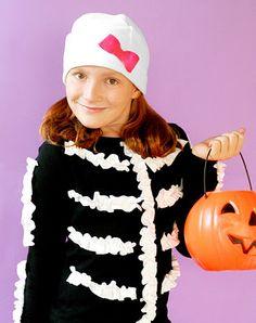 diy costumes, kid halloween costumes, halloween costume ideas, ruffl, diy halloween costumes, baby girls, skeleton, halloween diy, homemade halloween costumes