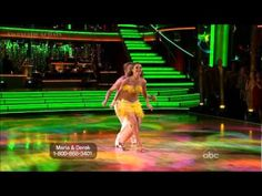 Maria and Derek's sexy salsa (and kiss!) #DWTS