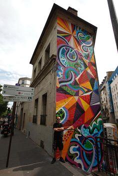 .tall skinny street art