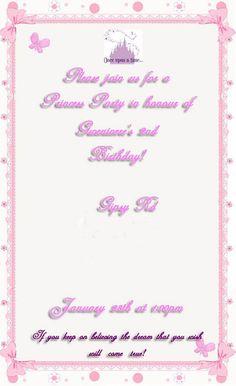 2nd Birthday Invites