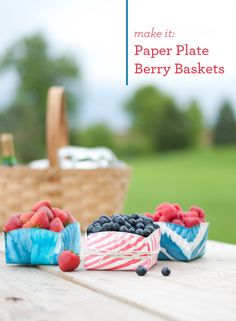 Paper Plate Berry Baskets DIY