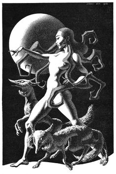 Have I not wandered intoxicated through the universe of shapes? (Illustrations by Hannes Bok)