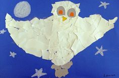 make a snowy owl (goes with camouflage lesson)