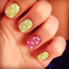 Accent nails - beautiful use of decals