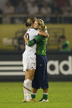 athletes.  teammates.  friends.  abby wambach and hope solo.