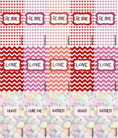 Mighty Delighty: Valentine's Day Mini Candy Bar Wrappers {{Free Printable}}