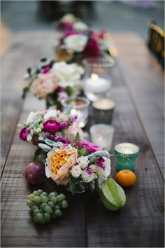 fruit and floral centerpieces