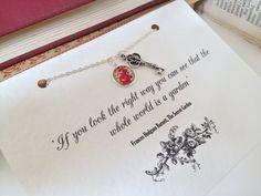 Frances Hodgson Burnett necklace. Super cute
