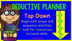 Are you an inductive or deductive lesson planner?