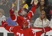 """For Jabs and Benilde, tears end in triumph: When Jack Jablonski met his championship teammates in the locker room, """"everyone went nuts.""""    Photo: Bruce Bisping, Star Tribune"""