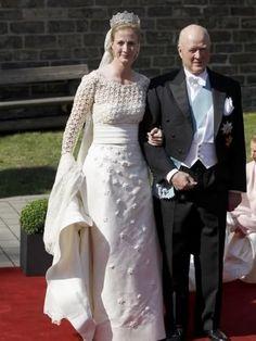 Princess Nathalie Xenia Margarete Benedikte of Sayn-Wittgenstein-Berleburg daughter of Prince Richard of Sayn-Wittgenstein-Berleburg and Princess Benedikte of Denmark at her wedding to Alexander Johannsmann, on Jan. 4, 2010