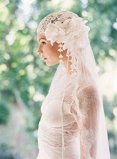 is romance... lace, wedding dressses, wedding veils, bridal veils, accessori, headpiec, weddings, bride, design