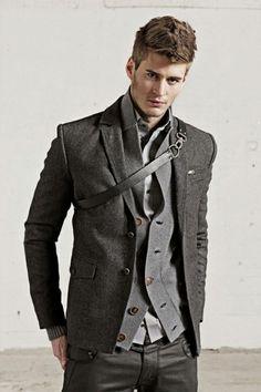 Great in Grey. #men #style