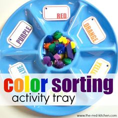 the red kitchen: Color Sorting Tray (Preschool Activity)