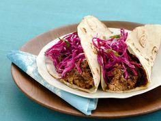 Brisket Tacos With Red Cabbage Recipe : Alex Guarnaschelli : Food Network