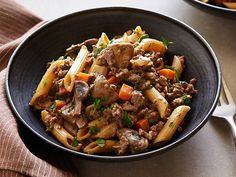 Skillet Hamburger Stroganoff Recipe : Food Network Kitchens : Food Network - FoodNetwork.com