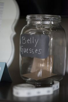 Guests guess how big the baby bump is - #babyshower #game