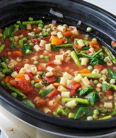 Springtime Crockpot Minestrone: Kendra made this for dinner a couple days ago & it was even better for lunch today.