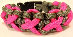 Cobra weave in charcoal gray w/ 7 pink
