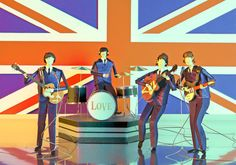The Beatles by People Too, via Behance