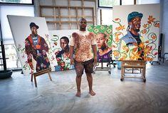 peopl, ateli, kehinde wiley, artist lair, kehind wiley, beij studio, artsi, artist studio, africanamerican artartist