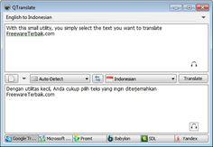 QTranslate lumayan ideal untuk dijadikan kamus bahasa Indonesia, ketika kita kesulitan mengartikan suatu kata atau kalimat asing, baik itu bahasa Inggris, Rusia, Perancis, Itali dan banyak bahasa-bahasa asing lainnya.