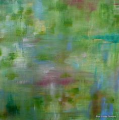 """Original Abstract Painting """"Bliss"""" by carolyn shultz/BluePoppyDesign SOLD"""