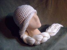 This looks like Elsa from Frozen! Crochet pattern