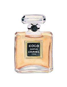 Coco Chanel Perfume Bottle Print ✭Teresa Restegui http://www.pinterest.com/teretegui/ ✭