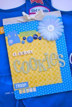 girl scout cookies, cooki ralli, gs cooki, daisi, cooki sale, clipboard