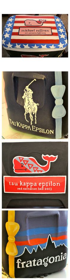 Tau Kappa Epsilon (TKE) Red Carnation Ball Frat Cooler - American Flag - Vineyard Vines - Ralph Lauren Polo - Patagonia - Fratagonia - Bow Tie Borders