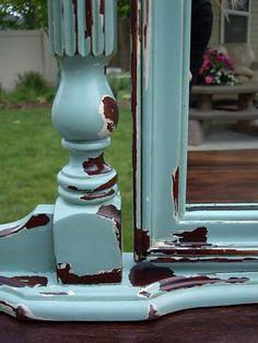 Chippy paint technique using Vaseline