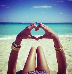 #beach #girl #summer #heart