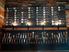 So many taps! Craft Pride (Rainey Street) - #sxsw beer tap, craft beer, craft pride