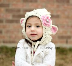 Lamb Bonnet by iheartuboutique on Etsy, $20.00