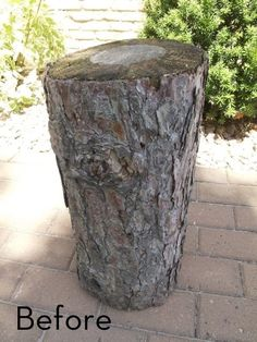 How to Make a Log Side Table