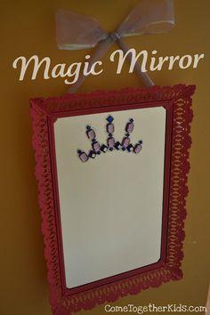 Leuke magie! Iedereen die in de spiegel kijkt wordt een prinses